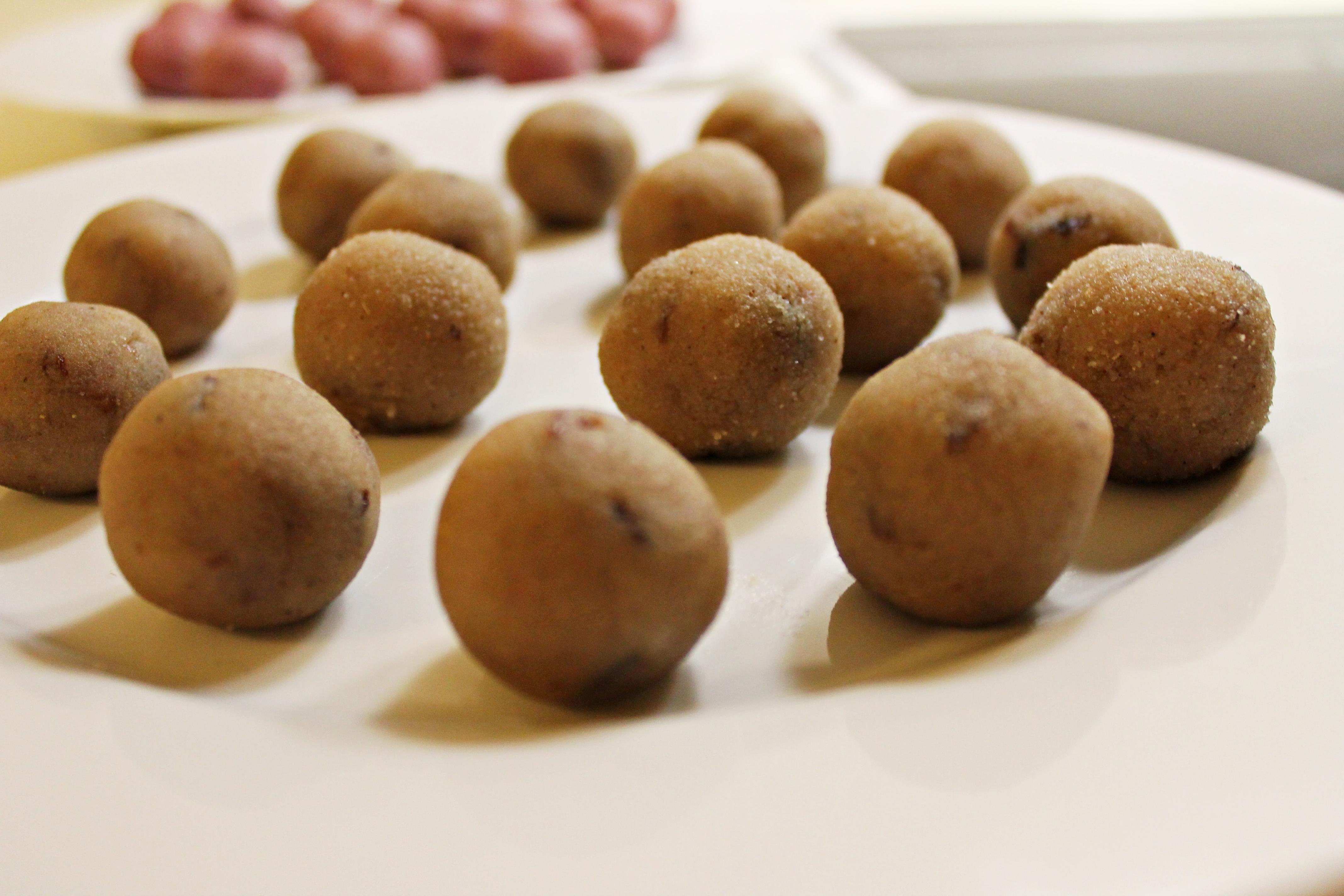 gløgg og hindbærkugler, inden chokoladen, december 2012