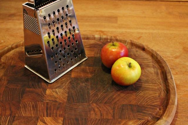 havregrynspandekager, æbler, december 2012