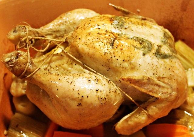Kylling i stegeso, færdig, januar 2013